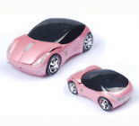 Pink Wireless Car shaped Mouse